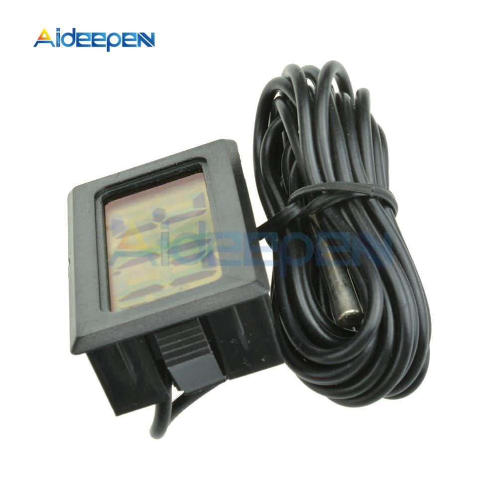 LCD Digital Thermometer Hygrometer for Freezer Refrigerator Fridge Temperature Sensor Humidity Meter Gauge Instruments Cable 2