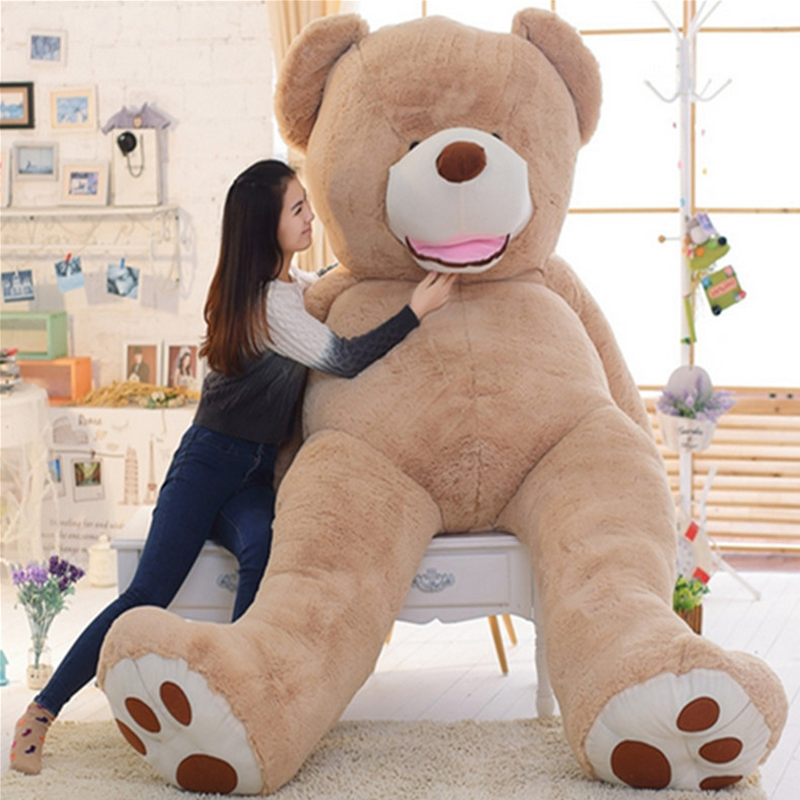 Fancytrader Big Giant American Bear Teddy Huge Stuffed Plush America Brown Bear Smilling Best Birthday Christmas Gift fancytrader big giant plush bear 160cm soft cotton stuffed teddy bears toys best gifts for children