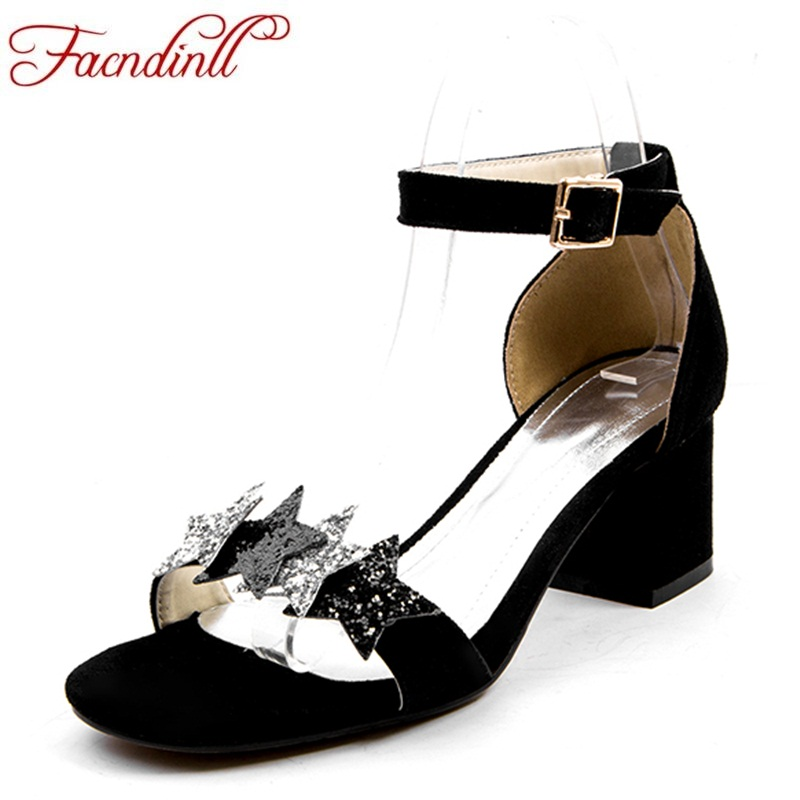 FACNDINLL fashion sequins summer shoes woman 2018 new sandals five-pointed star open toe women wedding dress party woman shoes 2018 new woman summer sandals open toe