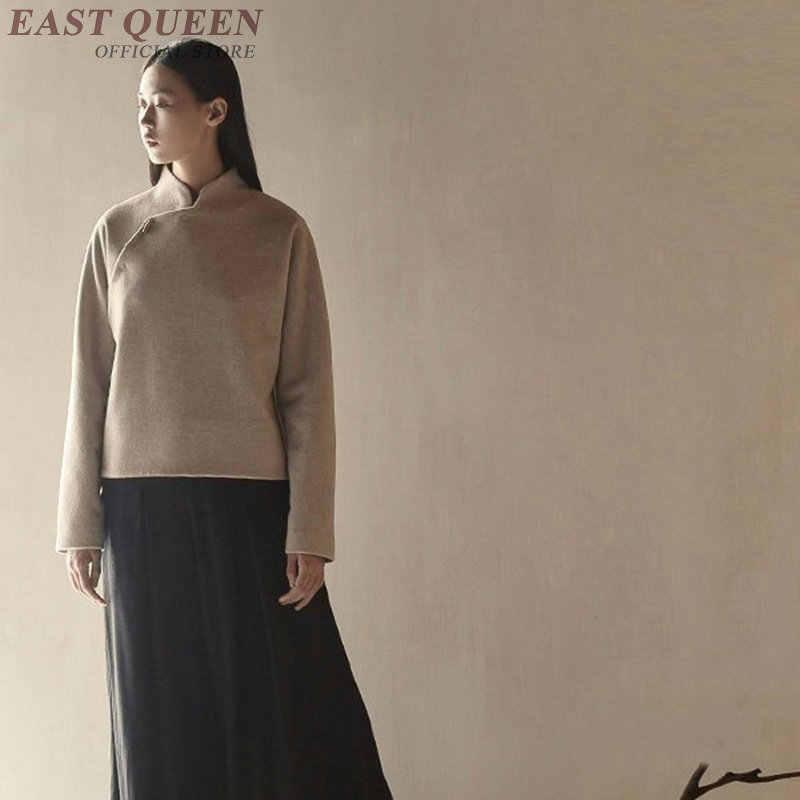 China Tradicional oriental clásico mujeres tops en primavera elegante grace manga completa ceñido al cuerpo grueso ropa femenina AA3245 F