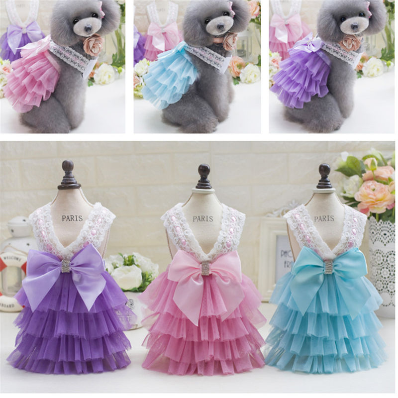 New pet clothes wholesale dog Korean version sling skirt in spring and summer