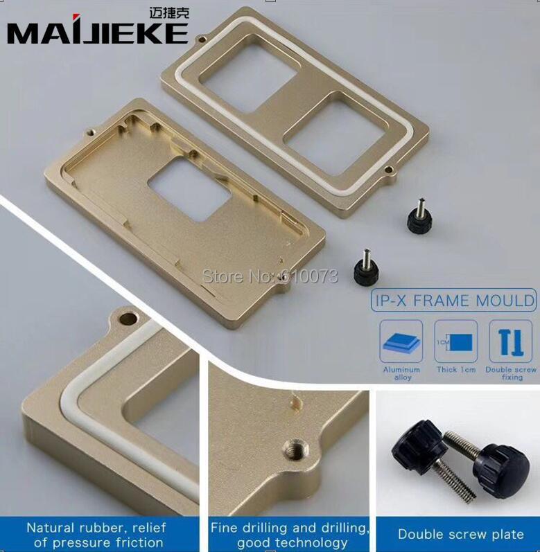 MAIJIEKE Top Qualität Rahmen form für iphone X glas rahmen kalt kleber halten form für iPhone x bildschirmrahmen Gewidmet