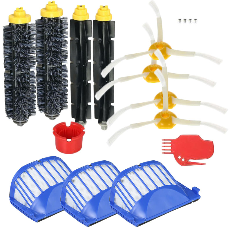 Filters Brushes Replacement Parts Kit for iRobot Roomba 600