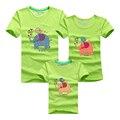 Ming Di Elefante Impreso Camisetas de Verano de la Familia Ropa Nueva 2017 Mirada de la familia de Dibujos Animados Trajes del Padre y de la Madre y la Hija y el Hijo
