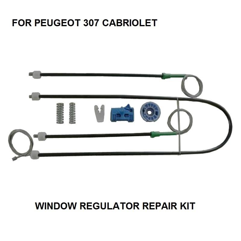 CAR PARTS 2003-2008 FOR PEUGEOT 307 CABRIOLET WINDOW REGULATOR REPAIR KIT FRONT LEFT