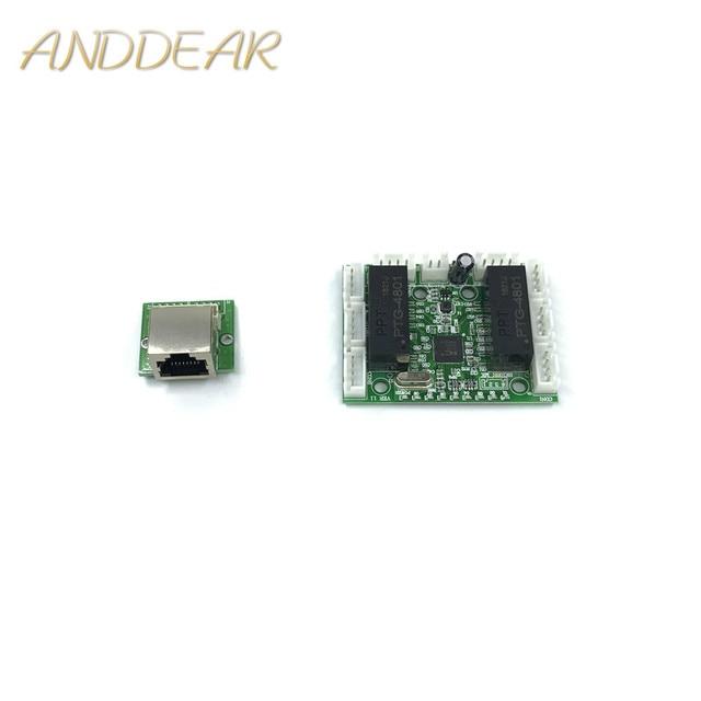 ミニモジュールデザインイーサネットスイッチ回路ボードのためのイーサネット · スイッチ · モジュール 10/100 mbps 8 ポート PCBA ボード OEM マザーボード