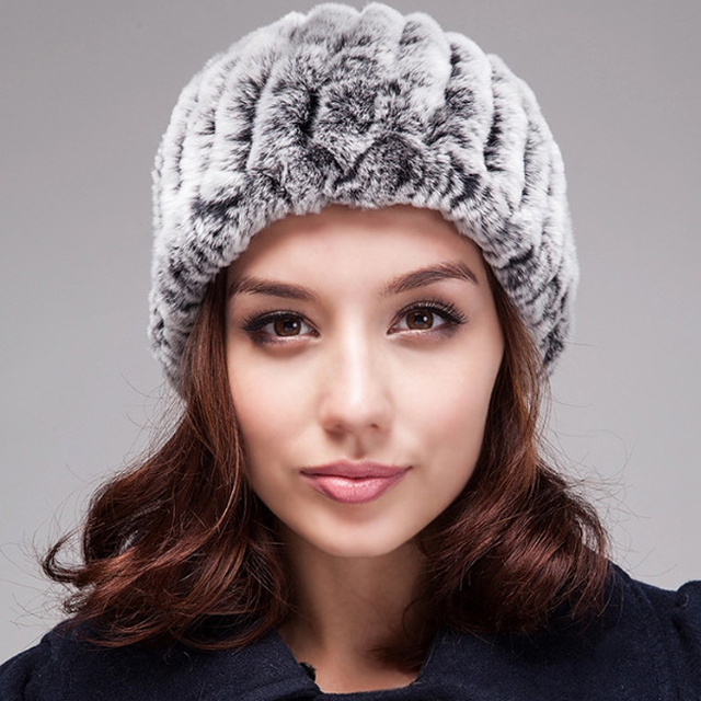New Arrival Fashion Women Headband Handmade Knitted Fur Headbands Genuine  Rex Rabbit Fur Headbands Winter Free Shipping YH060 ecda88e85da