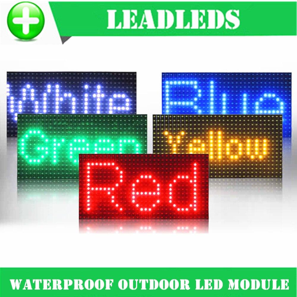 32 16 cm impermeable P10 al aire libre rojo verde azul amarillo LED para un  solo color P10 LED mensaje módulo b9beb21f4c7