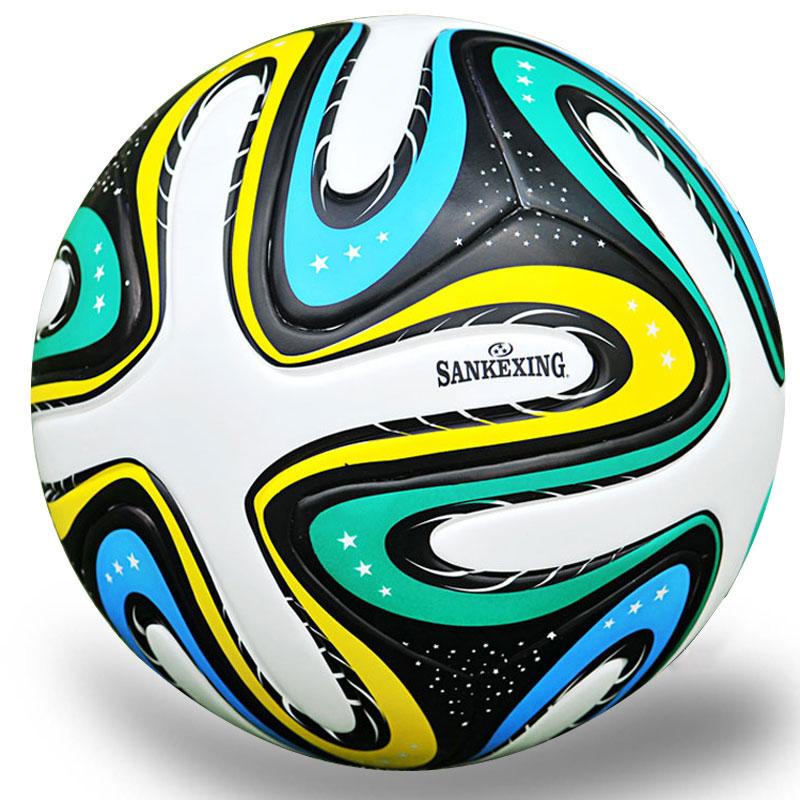 Высокое качество 2017 официальный Стандартный матч Футбол мяч Размеры 5 из мягкой искусственной кожи обучение детей Футбол Мячи профессионал... ...