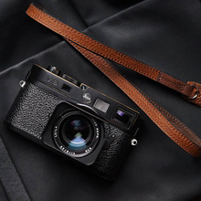 Mr.stone Handmade Genuine Leather Camera Strap Camera Shoulder Sling Belt Fine shoulder strap(Double sided leather)