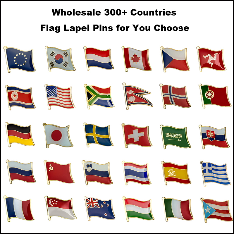 Smart Wholesale 300 Arts,crafts & Sewing Countries Flag Laple Pin Badge Flag Pin Badges To Have A Unique National Style Home & Garden
