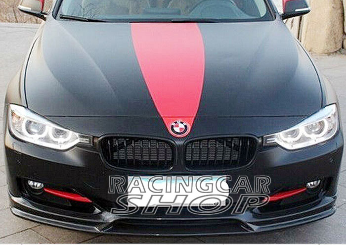 Painted 3d Style Front Bumper Lip Spoiler For Bmw F30 3 Series Sedan