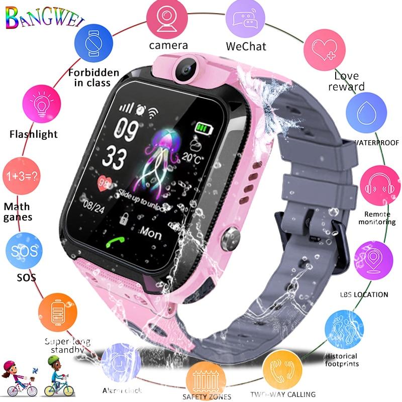 2019 Neuestes Design Bangwei Kinder Uhr Kinder Sport Wasserdichte Intelligente Uhren Sos Notruf Lbs Positioning Tracker Für 2g Relogio Infantil