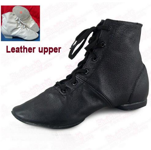 42421e36bc7a0 New 2017 Women Men Genuine Learher Jazz Dance Shoes Hip Hop Line Dance Shoe  Jazz Dance Boots Handmade Black White Wholesale
