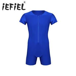 46e7a83530 iEFiEL Mens Bodysuit Jumpsuit Leotard Underwear Clothes
