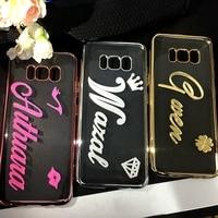 Exclusieve Aanpassen Naam TPU Zachte Case voor iPhone X 6 6 S 7 8 Plus Handgemaakte DIY Case voor Samsung Galaxy S8 Plus S6 S7 Edge Note 8