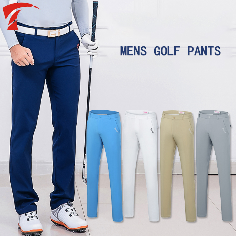 New 2019 Golf Trousers Men Pants Outdoor Sports Golf Apparel Summer Breathable Thin High Quality 5 Colors