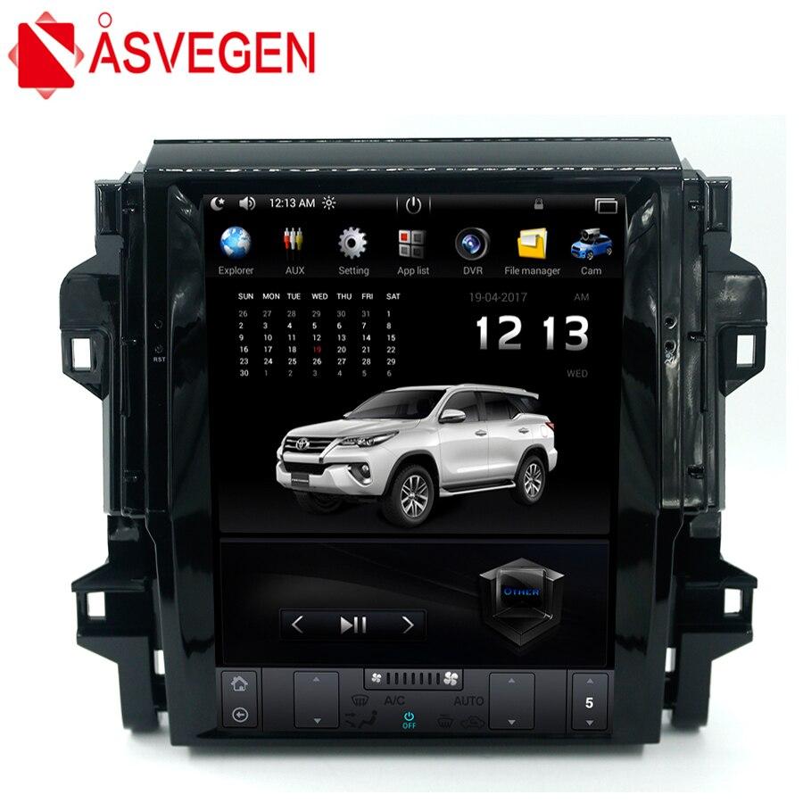 Asvegen стерео радио для Toyota Fortuner 2016 2017 по вертикали 12,1 ''Android 6,0 4 ядра мультимедийный плеер gps навигации