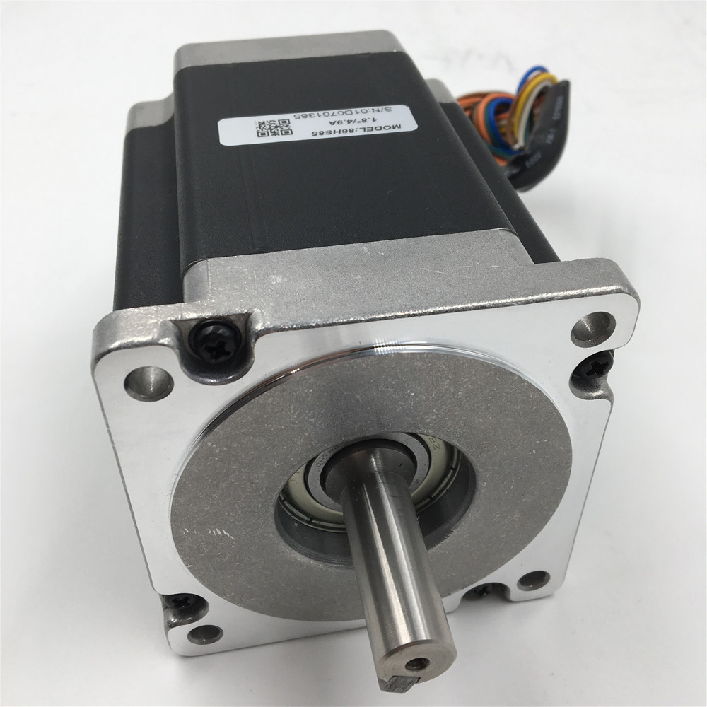 Nema 34 Flange 86mm Stepper Motor 6A 2 Phase Motors Keyway 5mm 1.8 degree 6.5NM/ 929oz. 98mm Motor for CNC Cutting Machine vending machine parts 1 sets motor cables for 60 pieces motors