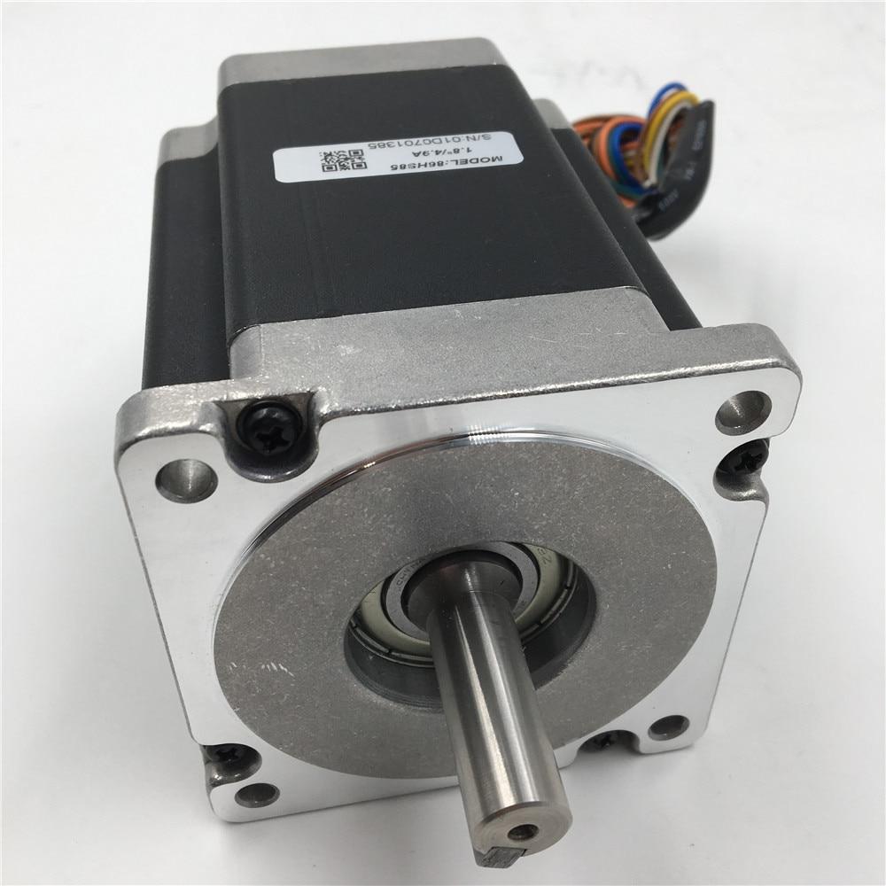 Nema 34 Flange 86mm Stepper Motor 6A 2 Phase Motors Keyway 5mm 1.8 degree 6.5NM/ 929oz. 98mm Motor for CNC Cutting Machine