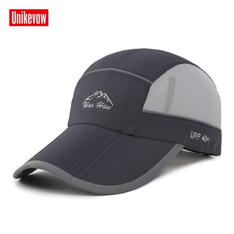 قبعات البيسبول الجافة سريعة الصيف قبعة قابلة للطي للرجال والنساء عارضة قبعة مضادة للأشعة فوق البنفسجية