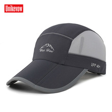 Quick dry summer baseball caps Foldable hat for men women casual anti - ultraviolet
