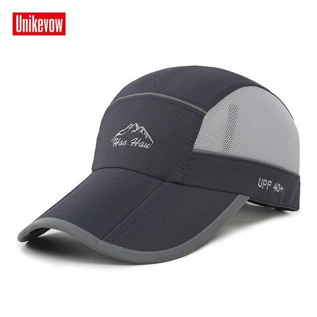 bf69ad62d3a28 Secado rápido gorras de béisbol del verano sombrero plegable para hombres  mujeres anti-ultravioleta del