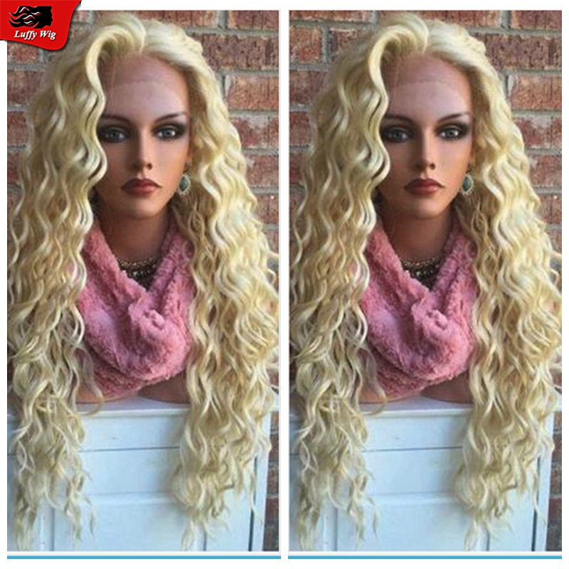 613 Full Lace Blonde Human Hair Wigs Lace Front Wig With