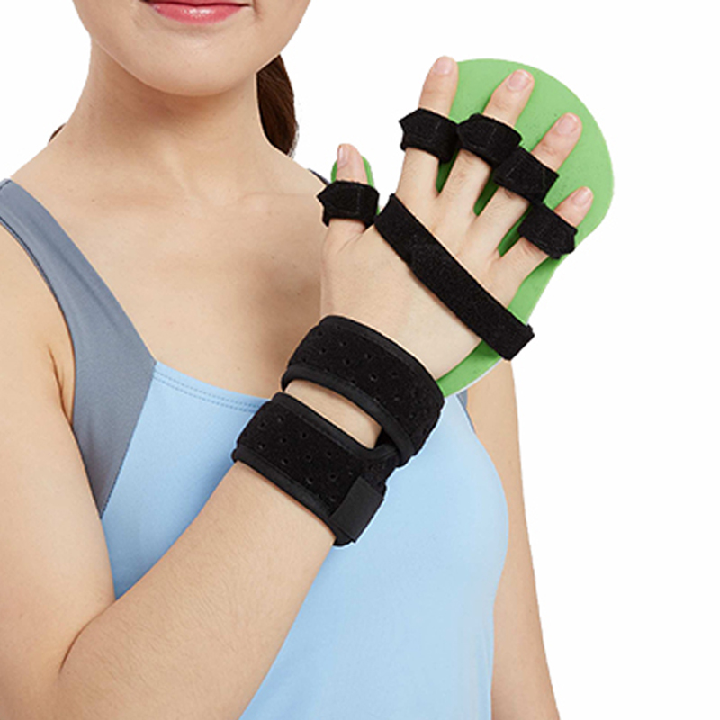 OPER Separate Fingers Splint / Tape Hand Orthosis Brace Extension Fixed Clamp Fracture Sprain Recovery Posture Corrector Medical