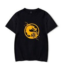 Mortal Kombat 11 Game New Dragon LOGO Men T-Shirt Summer Men's Breathable Cotton Short Sleeve Comfortable Tops 5Colour 4XL Tees