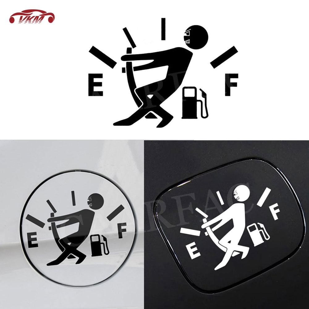 New Style Funny Car Stickers High Gas Consumption Decal Fuel Gage Empty Stickers Scratch Paste Fuel Tank Cap Stickers