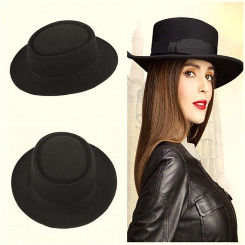 1c1a978d8db 9 Color Fashion Unisex Classic Felt Pork Pie Porkpie Hat Cap Upturn Feodora  hats Short Brim