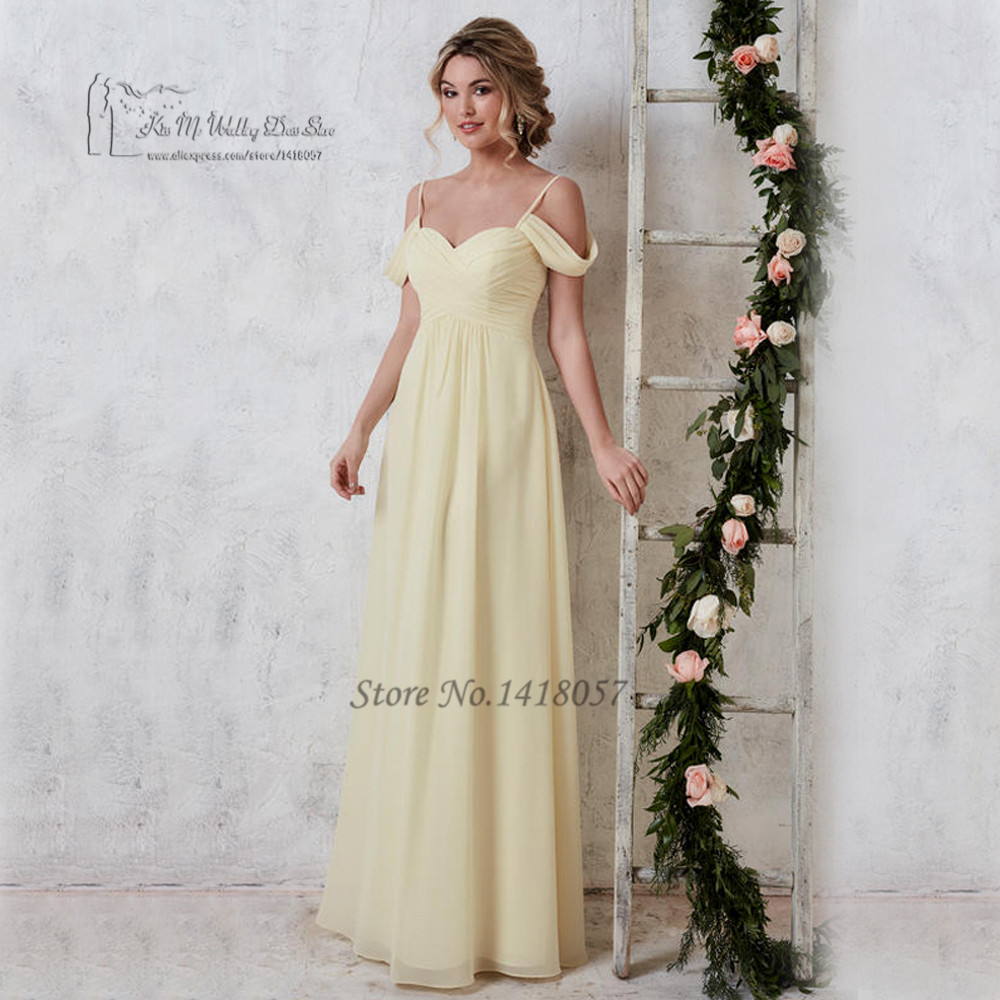 Compare prices on bridesmaid dresses yellow and gray online gray yellow sexy bridesmaid dresses long chiffon pleated robe demoiselle dhonneur cheap wedding guest ombrellifo Image collections