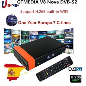 Satellite TV receiver Gtmedia V8 NOVA  from Freesat V8 Super TV Receiver support Cline Receptor built-in WIFI H.265 DVB-S2 Spain