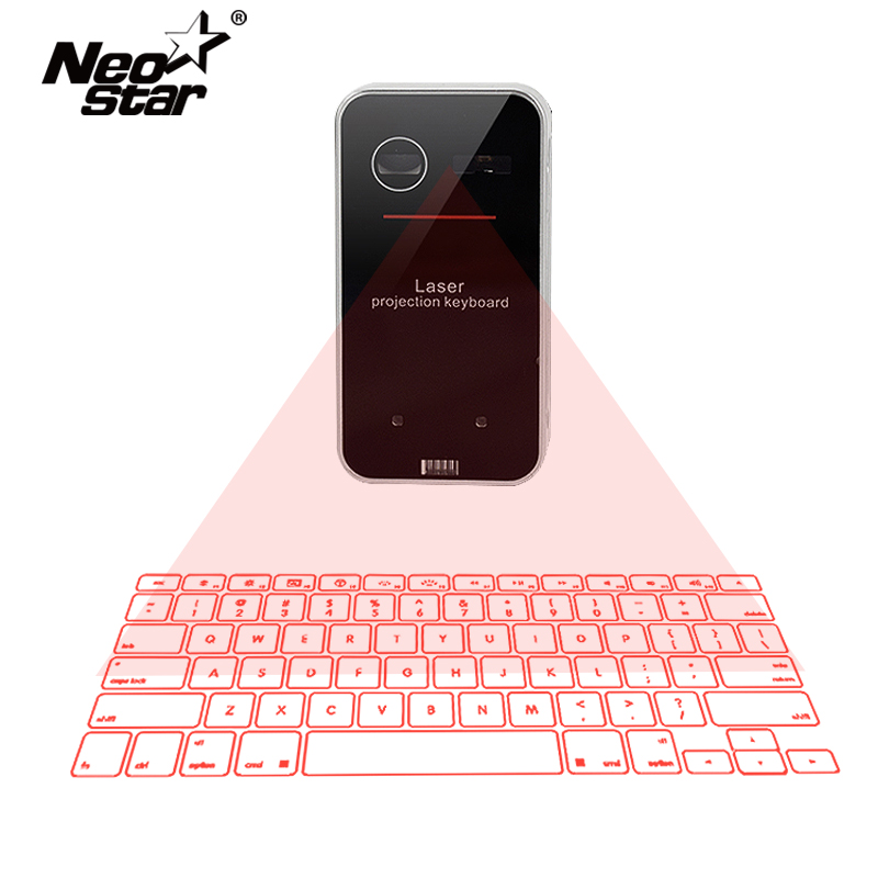 New Bluetooth Virtual Laser Projection Keyboard With Mouse Function For Smartphone PC laptop Portable wireless Keyboard Hot kb320 wireless bluetooth laser virtual projection keyboard touchpad mouse for tablet smartphone