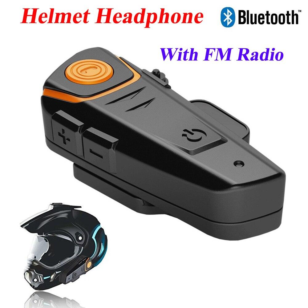 BT-S2 1000m Motorcycle Helmet Bluetooth Headset Intercom Wired And Wireless Waterproof FM Music Headphones GPS Helmet Intercom