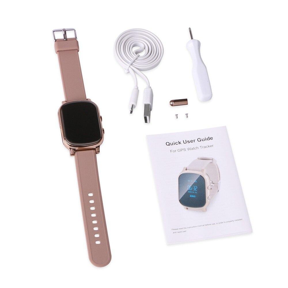 Smart Kid coffre-fort montre oLED appel SOS GPS WIFI localisation localisateur traqueur pour enfant aîné Anti perdu moniteur à distance bébé montre-bracelet - 5