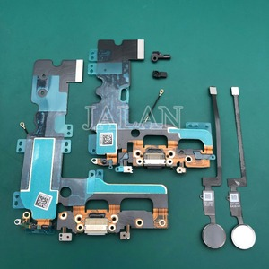 Image 3 - 1 قطعة ميناء الشحن مع بصمة للهاتف 7/7 زائد التالفة منفذ شحن USB قفص الاتهام الكابلات المرنة الرئيسية زر العودة مفتاح إصلاح
