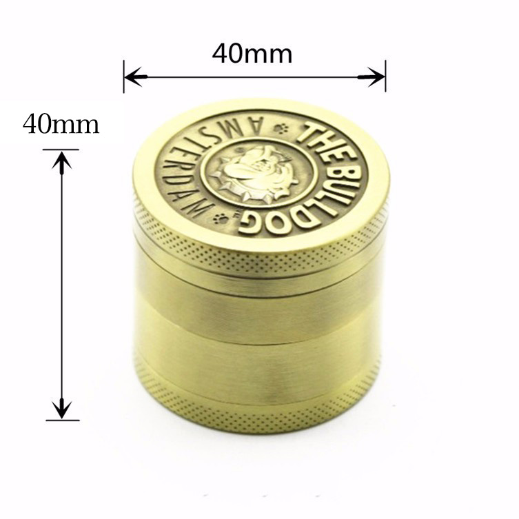 50pcs lot 2016 Cool 4 Layers Zinc Alloy Herb Grinder moedor Tabacco grinder broyeur diameter 40mm
