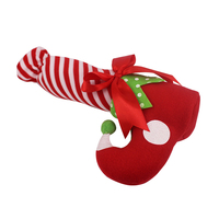 Merry Christmas Stocking Wine Bottle Cotton Boots Xmas Filler Decoration Santa Elf Shoes Candy Bag Tree