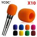 WX 10Pcs/lot microphone foam cover wind protective windscreen grill audio shield black