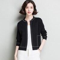 KL1309 Korean Style Spring Thin Coat Women Short Open Stitch Sweater Female Elegant White Cardigans