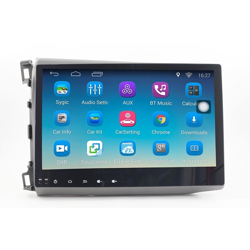 imágenes para ChoGath (TM) 10.2 ''1.6 GHz Quad Core RAM 1 GB Android 6.1 Radio de Coche GPS de Navegación Dvd para Honda Civic 2012-2015 con Canbus