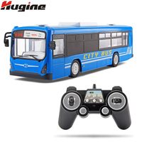 RC Car 6 Channel 2.4G Remote Control Bus City Express High Speed One Key Start Function Bus with Realistic sound and Light