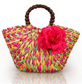 Fashion female straw bag summer beach bag bolsa de franja praia 2014 women's party handbag weave tote bag ladies handmade bags