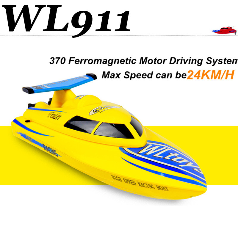 ФОТО Free Shippping Hot Sell  WL911 RC speedBoat 4CH 2.4G High Speed 24km/h RC Boat  RTF Charging  Waterproof Outdoor Toys