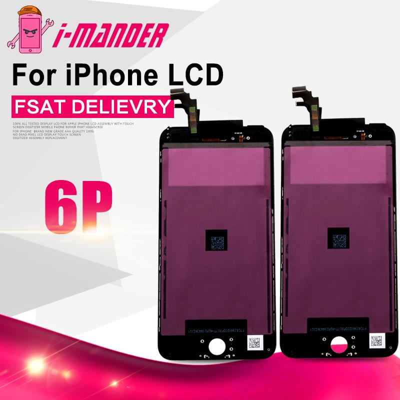 Prix pour 10 pcs en gros pas cher prix lcd assemblée avant pour iphone 6 plus lcd, 5.5 pouce pour apple iphone 6 plus lcd écran avec livraison dhl