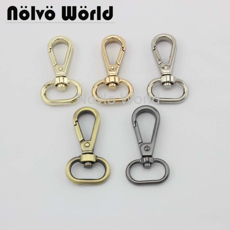 "6 pieces test, 48.3*19.5mm 3/4"" small quantity bags purse accessories, suitcase or handbag strap chain swivel clasps()"