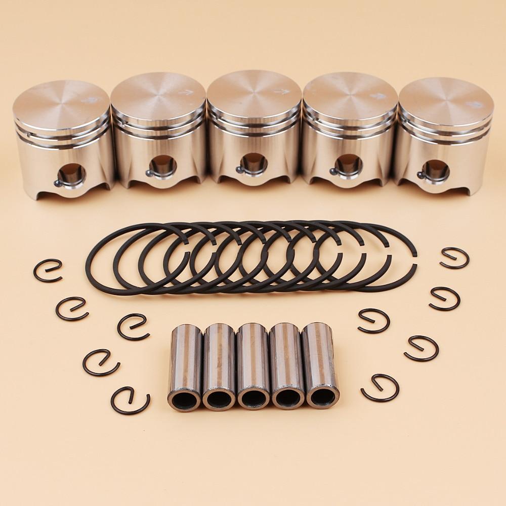 5Pcs lot 35mm Piston Pin Rings Kit For STIHL FS120 FS120R FS300 BT121 FS 120 300 Brushcutter Grass Trimmer Spare Parts