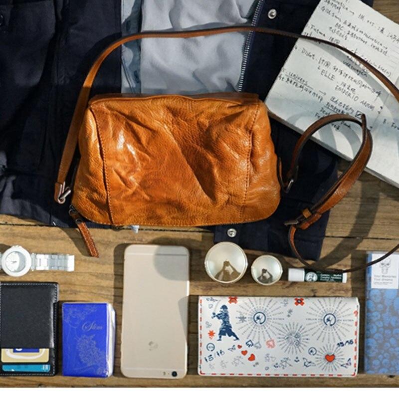 AETOO Leather literary Sen retro shawl back to the old small bag handbags handmade leather simple shoulder small dumplings